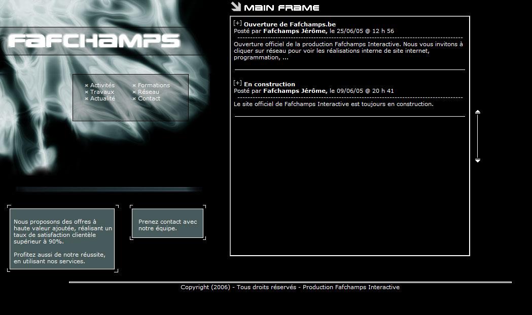Fafchamps.be V1 2005